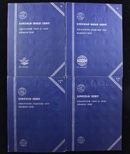 4 WHITMAN LINCOLN CENT ALBUMS (2) EACH VOL I AND VOL II (PARTIAL SETS)