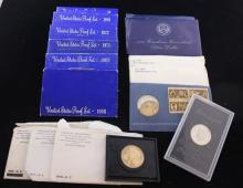 MIXED LOT INCLUDING U.S. AMERICAN REVOLUTION BICENTENNIAL MEDAL (NO BOX) AND FIRST DAY ISSUE, 4 UNCIRCULATED EISENHOWER UNCIRCULATED...