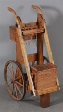 SINGLE ACTION SHOOTING SOCIETY (SASS) OAK COMPETITION GUN CART, 45