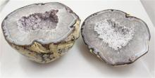 LARGE 2 PART POLISHED GEODE, 9.5