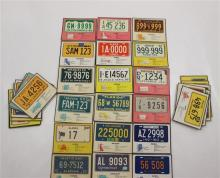 1960 POST LICENSE PLATE CARDS COMPLETE SET #1-60; CONDITION VARIES