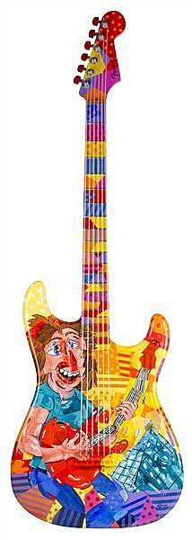 Kubist Guitar at the Hall BY: George Kocar 10-ft-tall urethane replicas of the Fender® Stratocaster® guitars