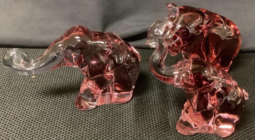 3 Heisey HCA by Dalzell lavender ice elephants.