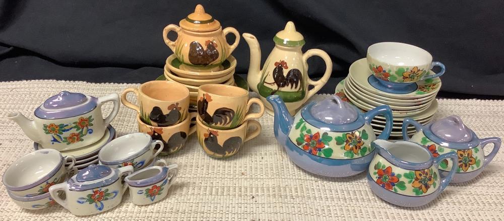(3) child's tea sets. Some incomplete