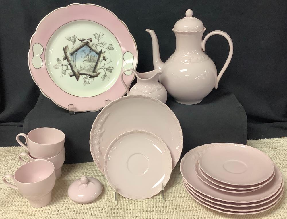 15 pieces of Hutschen Reuther porcelain (not a complete set) & one plate w/ a windmill.