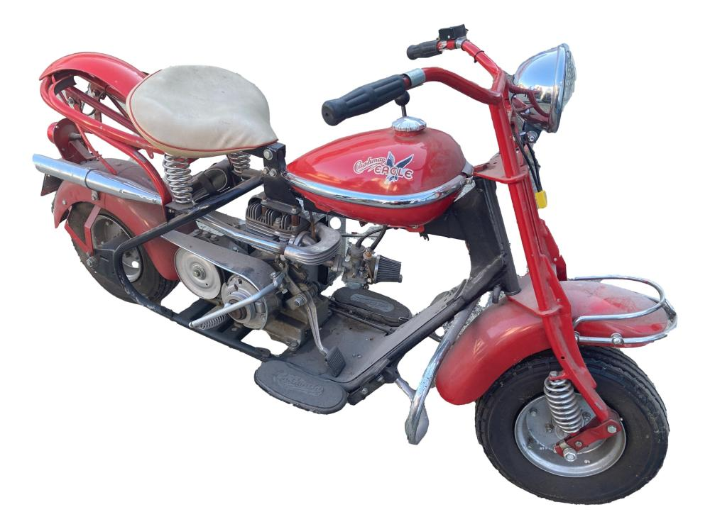1950's Cushman Eagle Motorcycle Restored 2009-2010. No Ohio title available, selling for parts.