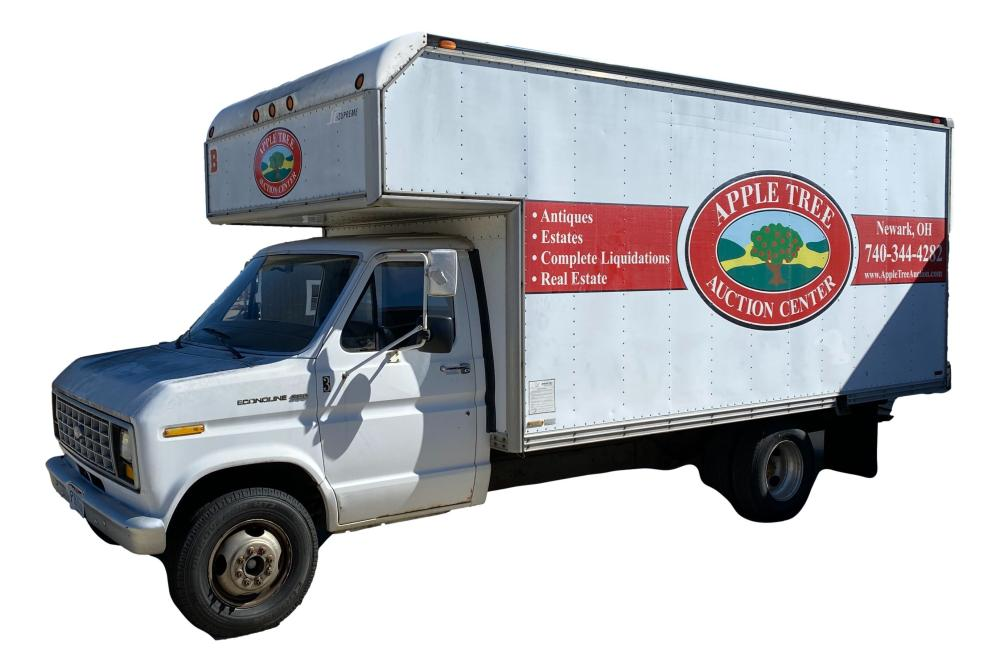 1987 Ford Model 35C Cutaway Box Truck E35 48,681 Actual Miles, Vin# 1FDKE37H9HHB02896, will start and run, but when shut off will not start for a few hours.