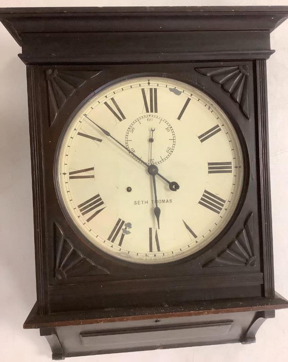 "Seth Thomas Regulator Clock 27""H"