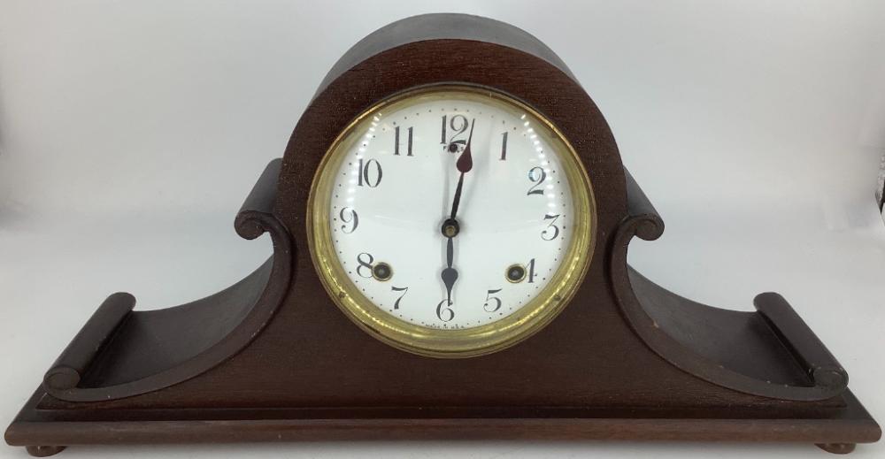 "Camelback clock. 10 1/2""H"