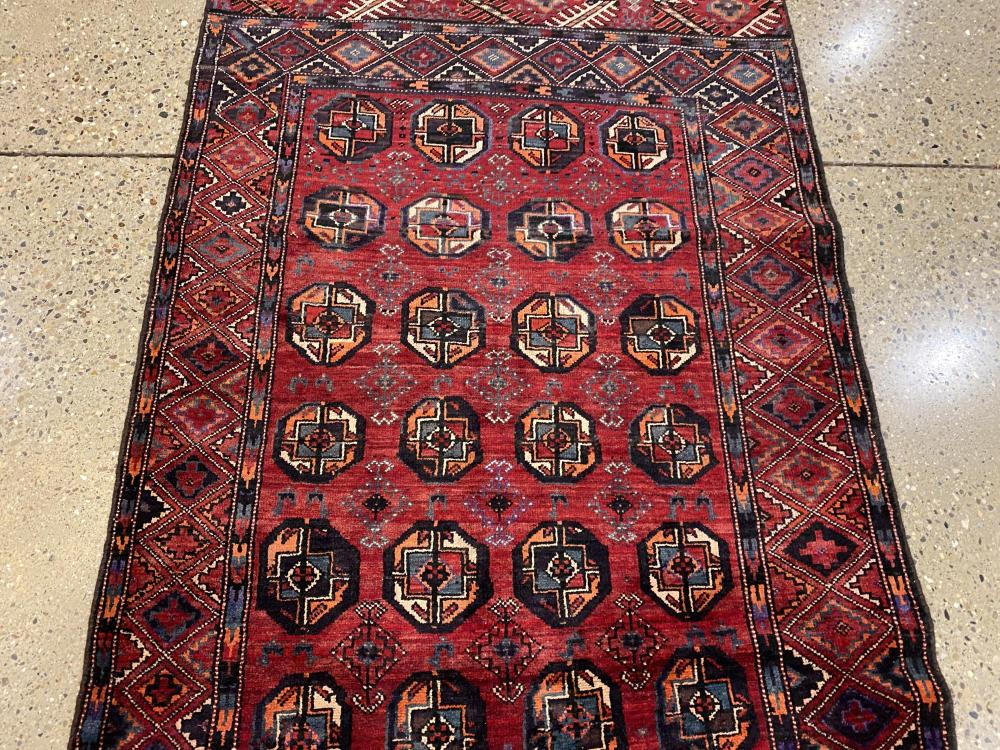 "Oriental rug, Turkoman runner, 3'11"" x 9'1"""