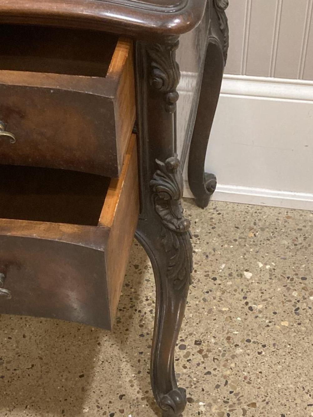 """French style knee hole desk, 47.5"""" x 21.5"""" x 38"""""""
