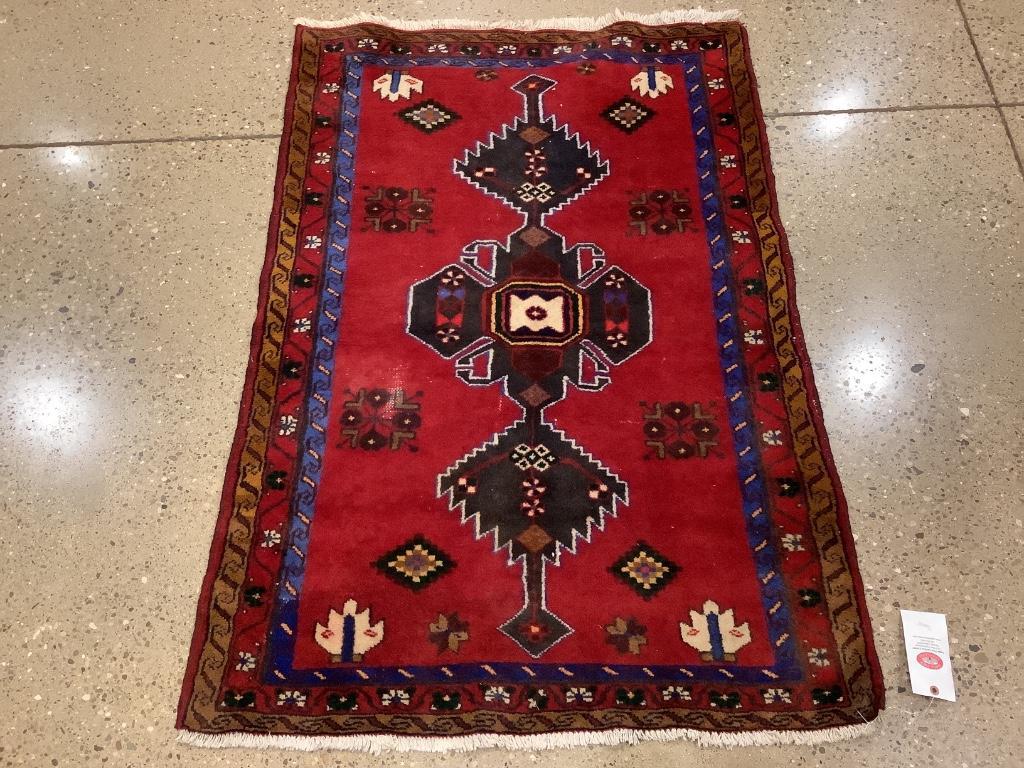 "Oriental rug, zanjan, 3'4""x 4'10"""
