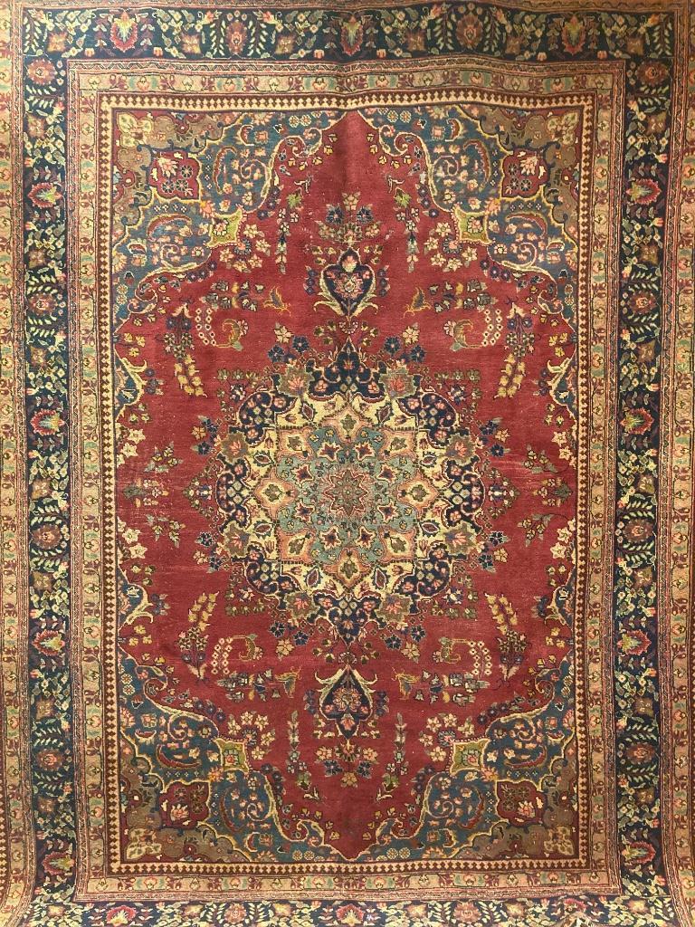 Oriental rug,Tabriz circa 1950s, 8' X 11'