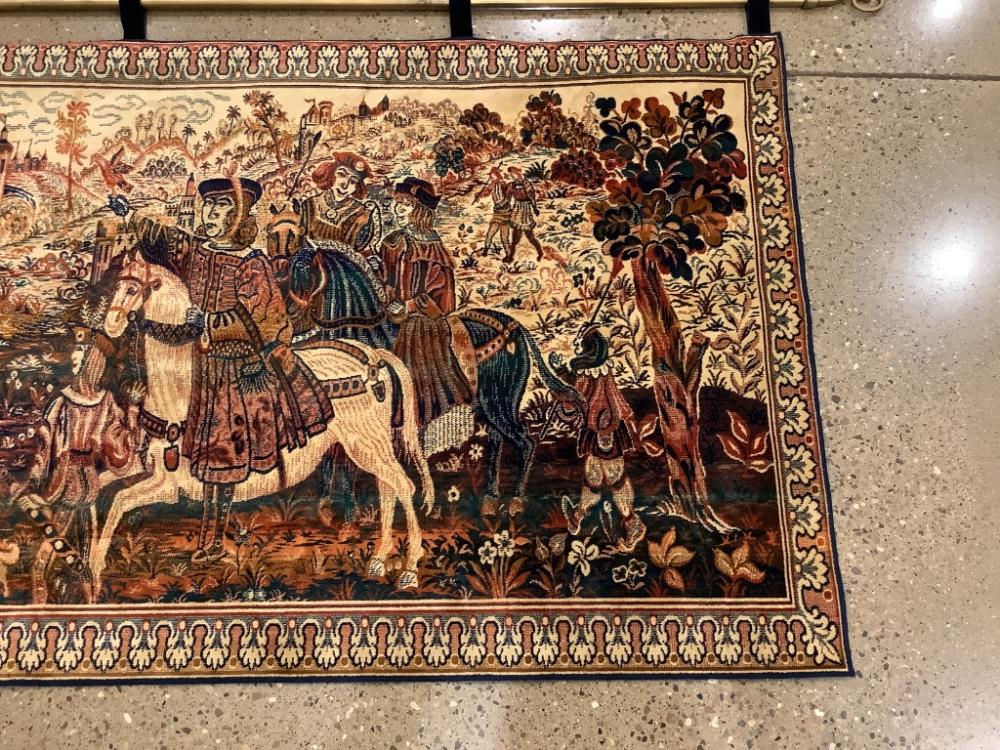 """Belgium pictorial wall tapestry, 62.5"""" x 39.5"""""""
