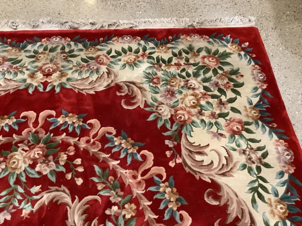 """Oriental rug, Chinese sculpted, 9'11"""" x 14'4""""."""