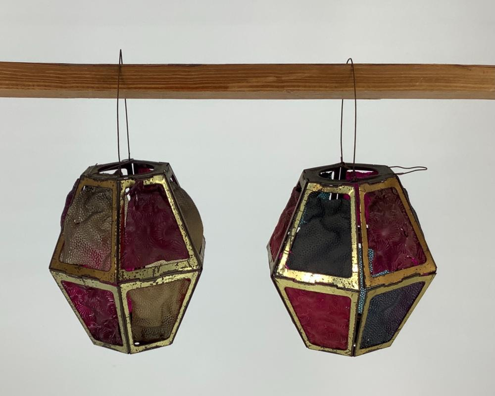 Early 20th century candle lanterns.
