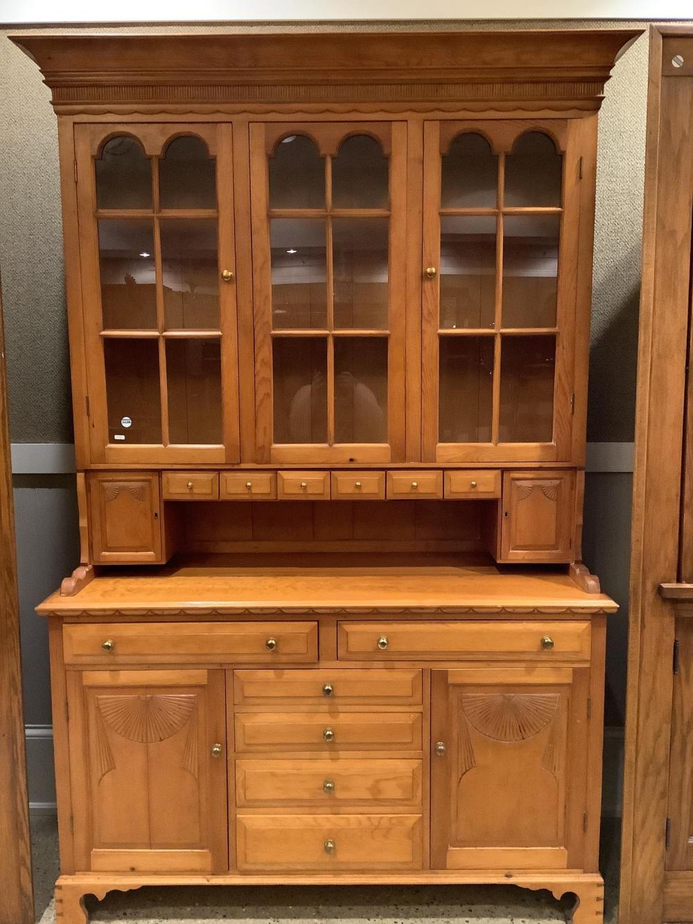 """Country style step back cupboard. 56""""x21""""x87.5"""""""