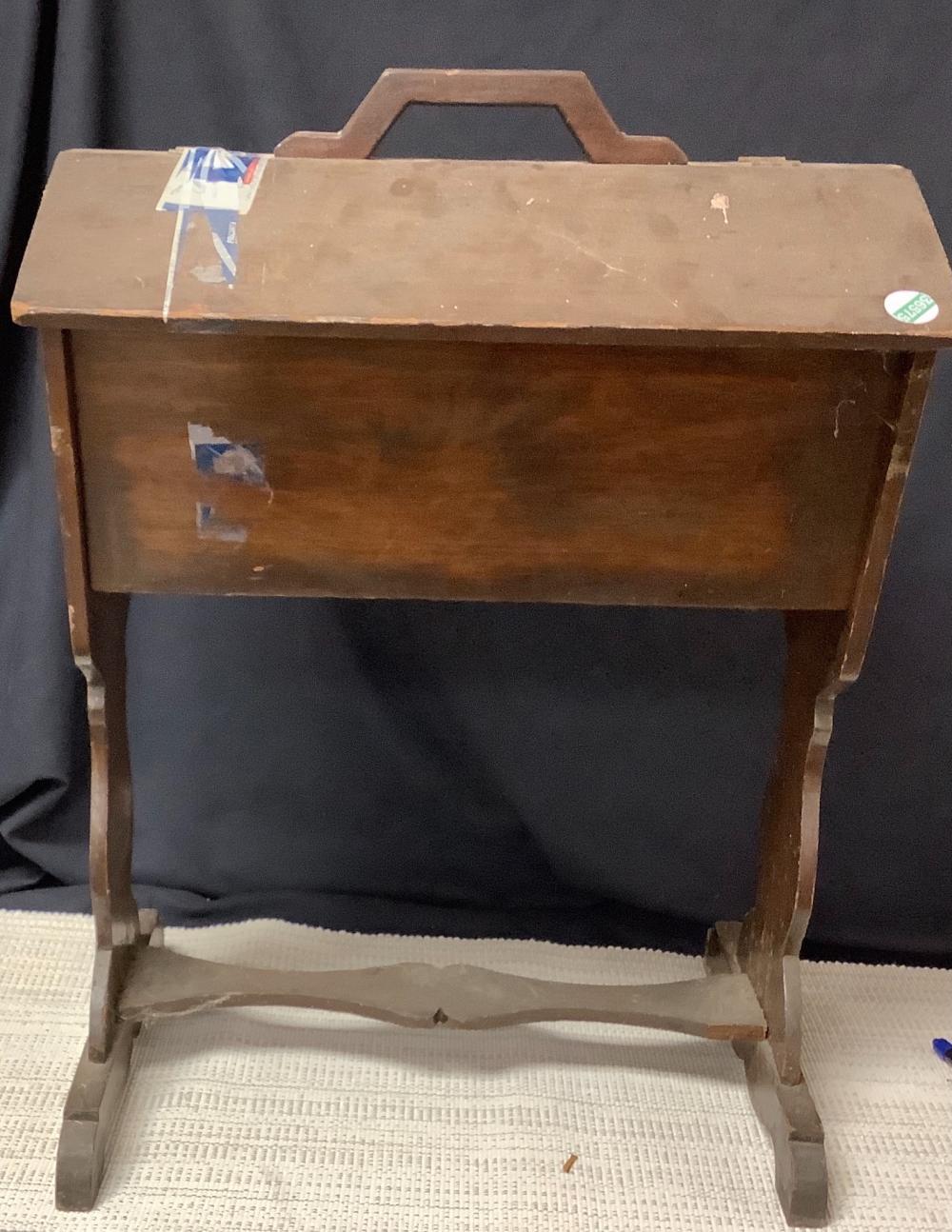 Vintage sewing cabinet.