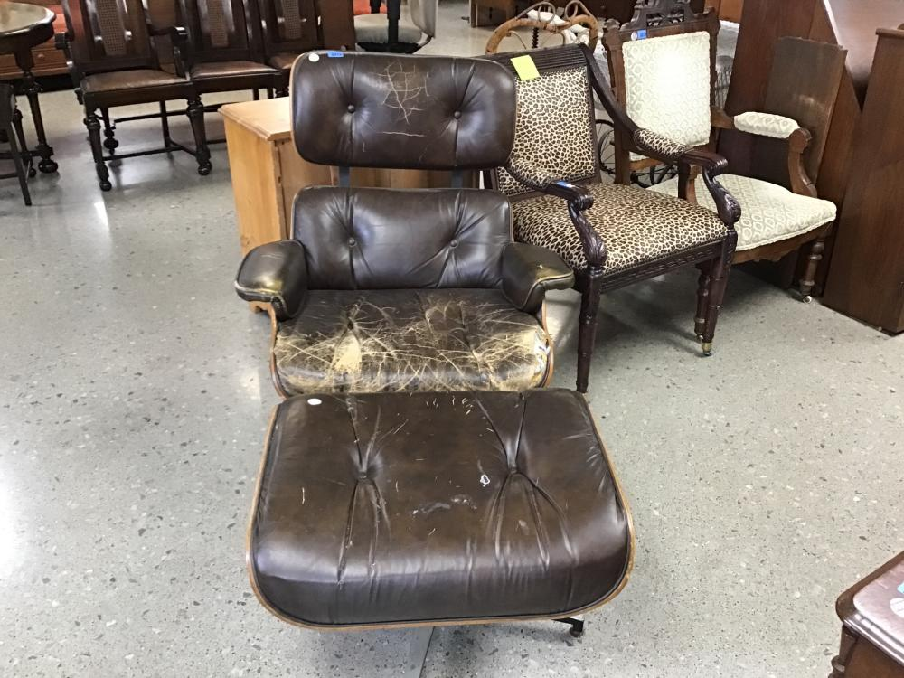 Charlton ames style chair and ottoman