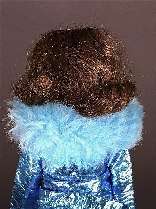 BRUNETTE TWIST & TURN BARBIE WITH FLIP HAIR, DRESSED IN