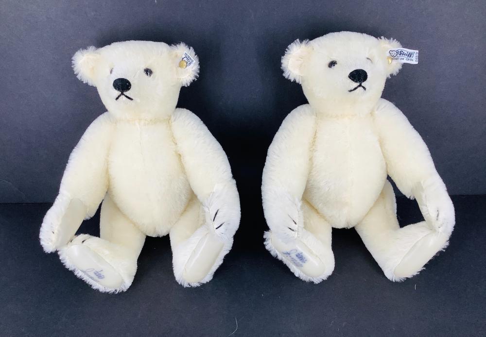 """Pair of Steiff Limited Edition 13"""" 1987 Teddy Bears."""