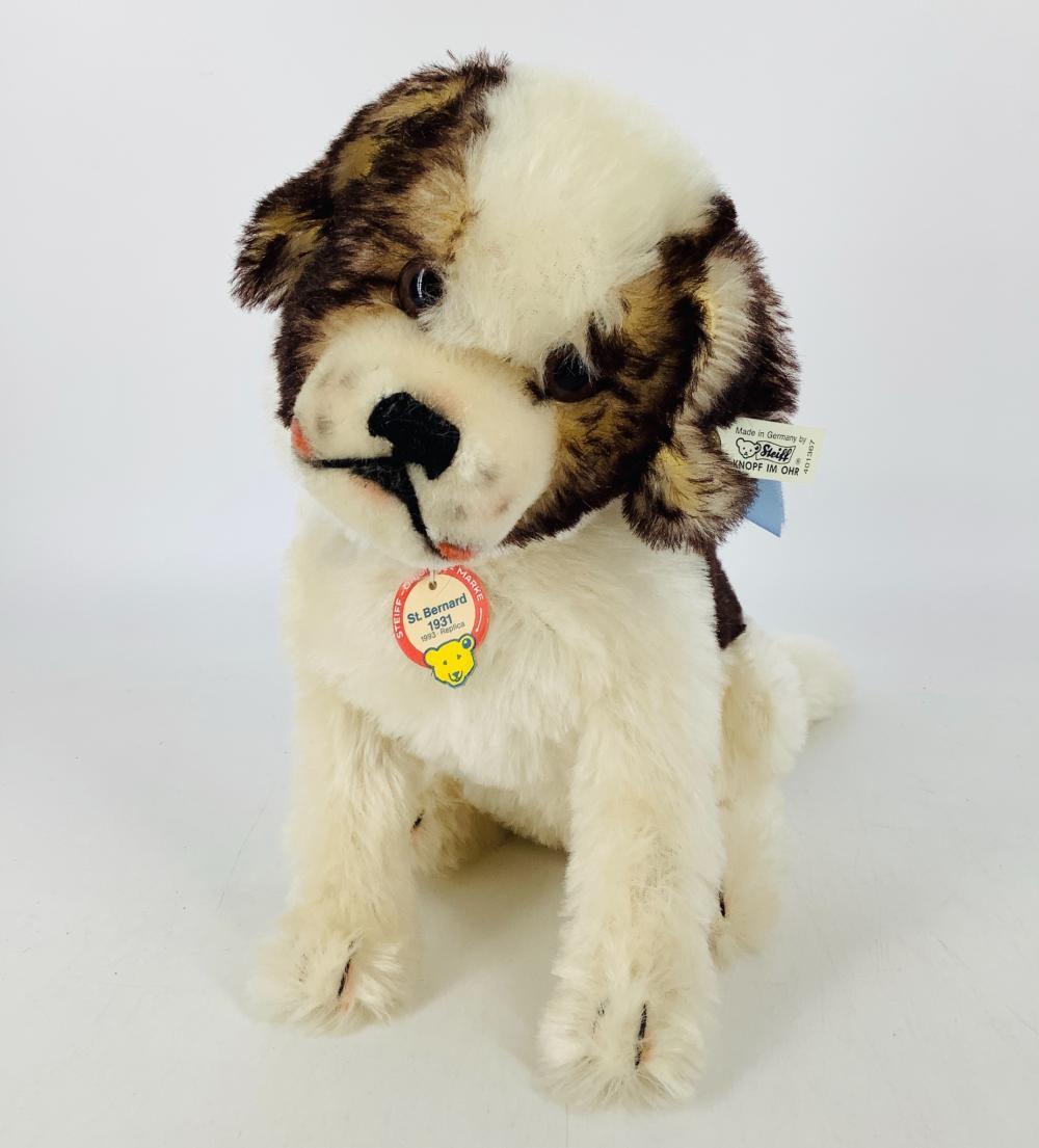 "11"" Limited Edition Steiff St. Bernard Dog, replica of 1931."
