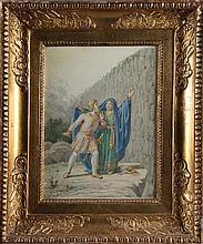 Constantin Hansen (1804-1880): Kong Hadding og den ubekendte kvinde