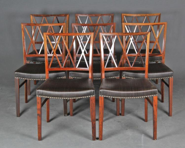 spisestuestole Ole Wanscher: Et sæt spisestuestole, palisander (8) spisestuestole