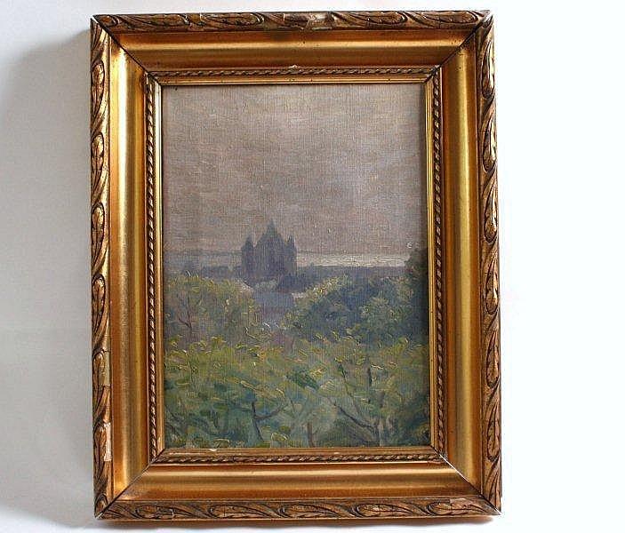 Maleri: Kalundborg Domkirke, sign. C.L. Toft