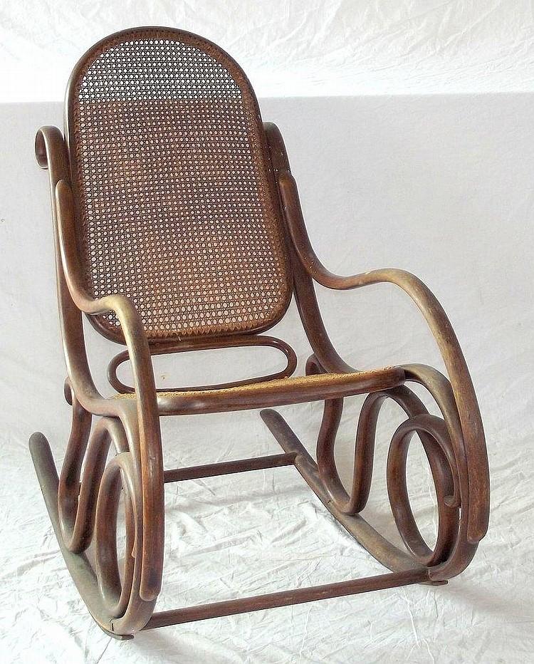 Antique Bentwood Rocking Chair Austrian Thonet Style 19thc