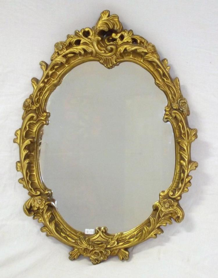 Antique style rococo gilt framed wall mirror 20thc 63 x 46 for Antique style wall mirror