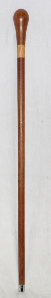 Vintage Mahogany & Oak Walking Cane Complete with Ferrel/Brass Tip. 20thc.