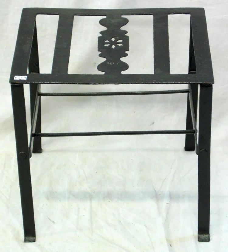 Georgian Wrought Iron Trivet Stand. 18th Century, Height 13 1/2 in. Width 14 in. Depth 11 in.