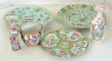 Collection of Antique Cantonese Porcelain. 19th  Century.(6 Items)