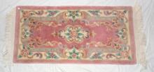 Pink Wool Rug 20th.c. 145 x 60cm