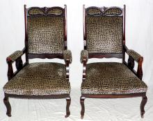 Antique Edwardian Armchairs, Early 1900s. (2  items)