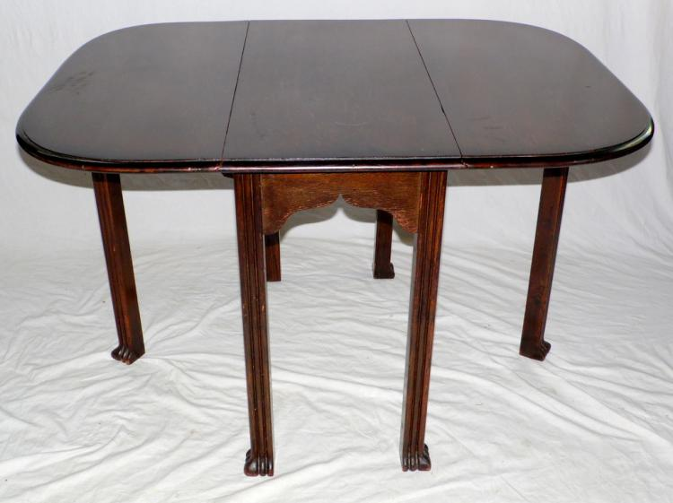 1920s oak gateleg table on reeded supports 20thc height 29 for Table th width