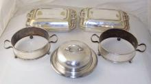 Collection of Silver Plate EPNS Warming Trays Etc. (5 Items)