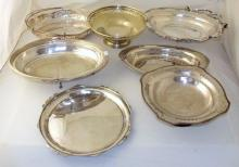 Collection of Silver Plate EPNS Swing Handle Serving Trays Etc. (7 Items)