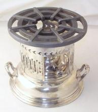 Antique Honour Silver Plate EPNS London Warming Stand/Burner. Circa 1900. Height 19cm. Diameter 20 cm.