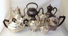 Collection of Silver Plate EPNS Tea Pots Etc. (9 Items)