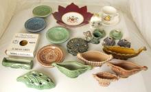 Collection of Wade to Include: Silver Jubilee Ashtrays, Chimpanzee Match Holder Spill Vases etc . (22 Items)
