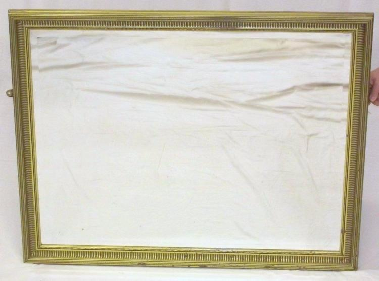 Large Gilt Framed Beveled Glass Wall Mirror. 20thc. 35 x 45 Inches.