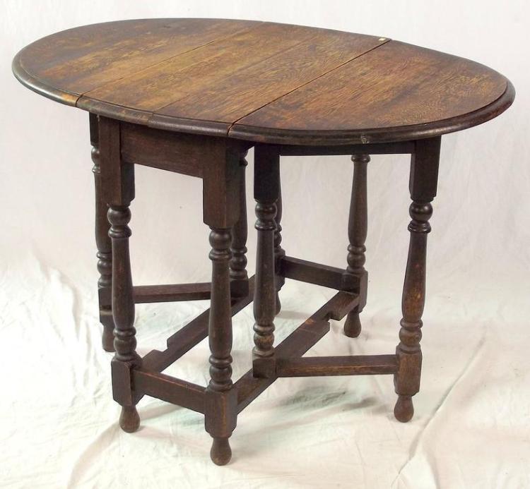 1920s oak gate leg table height 29 in width 30 in length. Black Bedroom Furniture Sets. Home Design Ideas