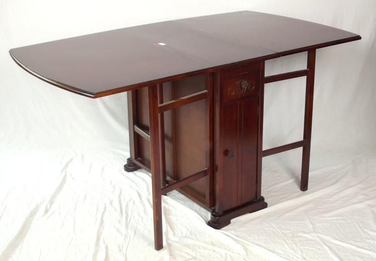 Vintage Oak Drop-leaf Kitchen table with Storage 20th.c ...