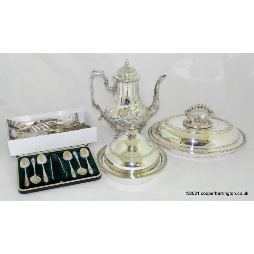 Antique Silver Plate Collection