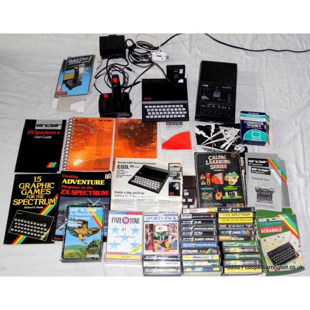 Retro Sinclair ZX81 Computer Bundle.