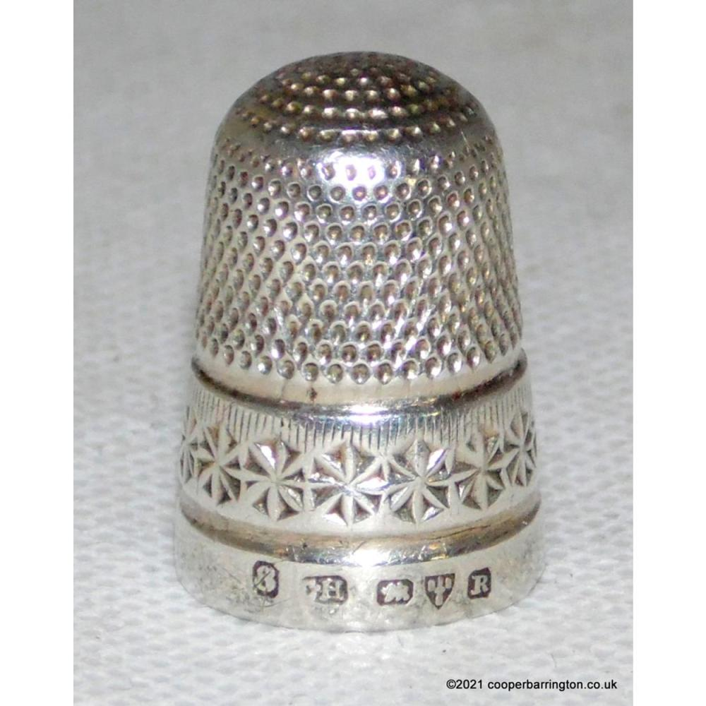 Victorian Silver Charles Horner Thimble c.1900