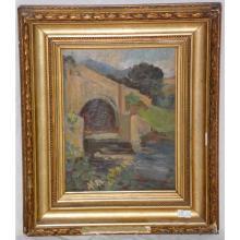 Elizabeth C FisherClay Impressionist Oil on Panel