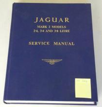 Original 1960s Official Jaguar Service Manual for Mark 2 Models 2.4,3.4 and 3.8 Litre  . Fourth Edition. Hardback nice condition.